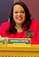 Council member Andrea Statem