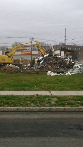 Demolition took place in December