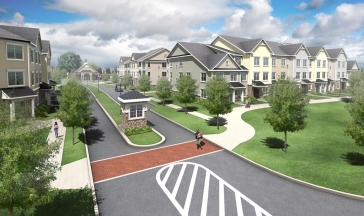 Ground floor apartments with stoops and porches will also be included throughout the community. Photo credit: BartonPartners